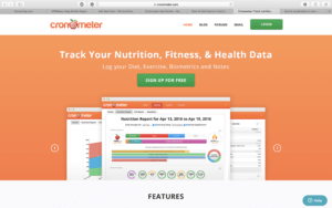 Image of Cronometer App Review website highlighting its function: Track your nutrition, fitness, and health data.