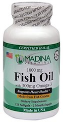 Madina Vitamins Halal Omega 3 Fish Oil